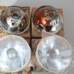 LANCIA FULVIA S1, COUPE,SEDAN SIEM HEADLAMP SET NEW OLD STOCK