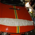 Lancia Fulvia decal LANCIA-ITALIA NEW WITH THE SAME SIZE AND CURVE TO FIT THE FRONT