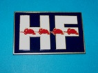 Lancia Fulvia HF decal in metallic adhesive.