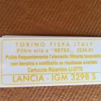 Lancia Flaminia Air Filter Box Decal 3B/3C All