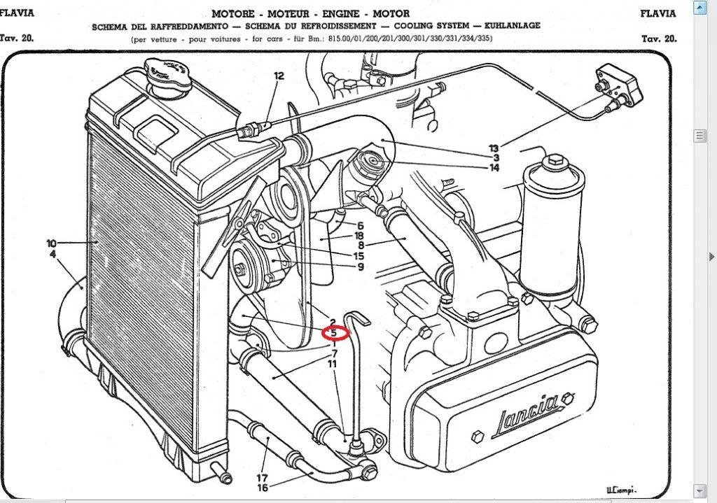 Lancia Flavia 1.5,1.8 Lower By pass Hose : :: LALANCIA.COM ::