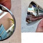 Lancia Fulvia S1/Flavia S1 Used Mirror May Need Re-chrome MATADOR. Small Dent